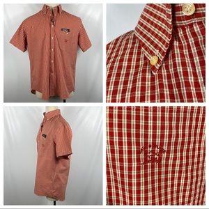 NWT Paul & Shark Red & Yellow Short Sleeve Shirt